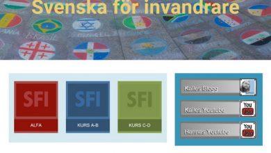 موقع لتعلم السويدية لعدة مراحل وتدريبات