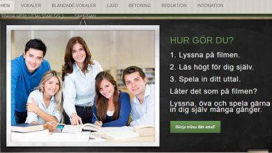 موقع لتعلم طريقة لفظ أحرف السويدية